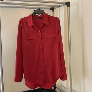 Apt 9 Red Button down blouse
